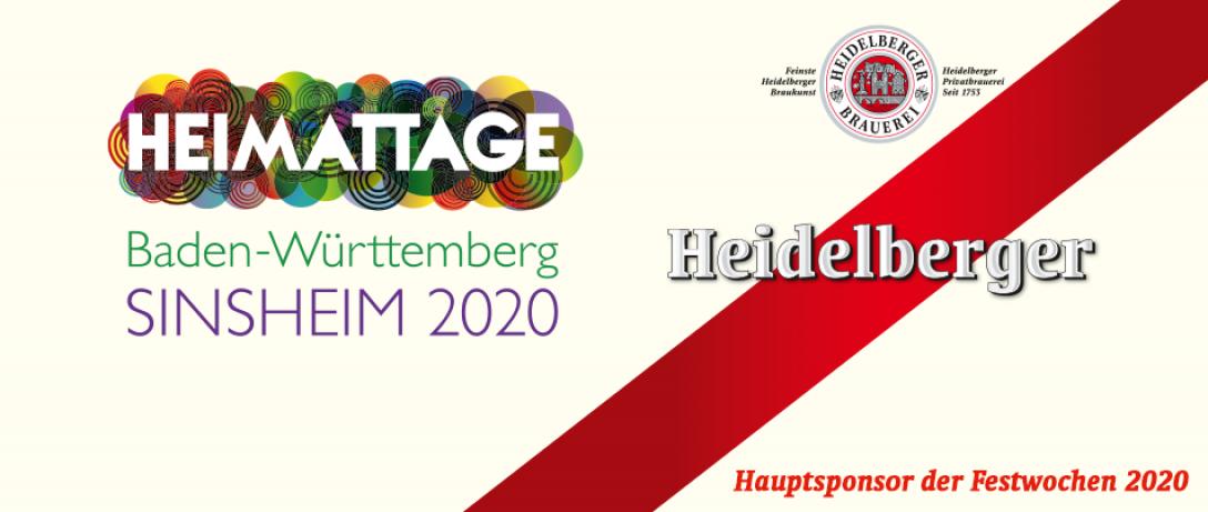 Hauptsponsor der Festwochen 2020 ist die Heidelberger Brauerei.